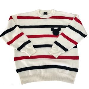 Forever 21 Disney Mickey Mouse Striped Sweater, S